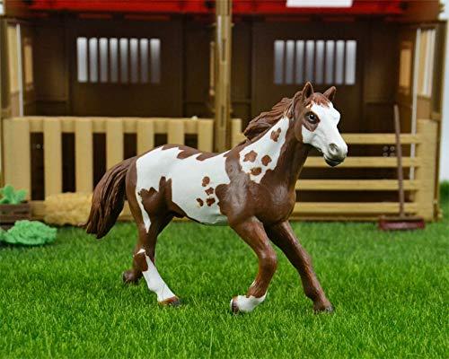 Originele echte wilde boerderij dier Pinto hengst paard figuur Model kinderen jongen speelgoed kinderen cadeaucollectible beeldje
