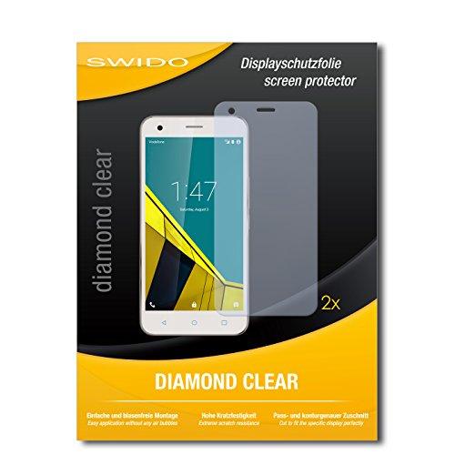 2 x SWIDO® Bildschirmschutzfolie Vodafone Smart Ultra 6 Schutzfolie Folie