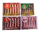 Gag Gift Candy Cane Bundle of 4 Weird Flavors Bacon, Ham, Ketchup and Mac and Cheese 24 Candy Canes Total