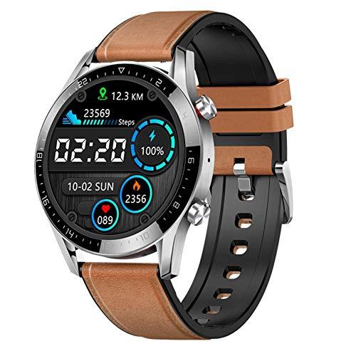 SVUZU Reloj Inteligente GT05 para Hombres, Pantalla Redonda IP68 1.28IPS con Llamada Bluetooth, ECG, PPG, Resistente al Agua, presión Arterial, frecuencia cardíaca, rastreador de ejercic