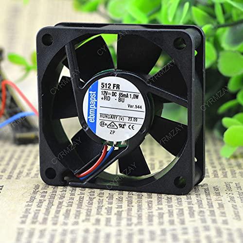 CYRMZAY Ventilador Compatible para ebmpapst TYP 512F 12V 85mA 1.0W 2-Wire 5CM5015 Cooling Ventilador