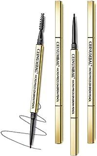 Golden Slim Eyebrow Pencil, Dual-Ended Sweat & Waterproof Ultra Fine Skinny Eyebrow Pen for Make Up 1 Count (Black)