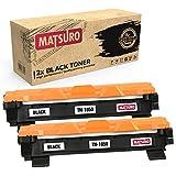 Matsuro Original | Compatible Cartucho de Toner Reemplazo para Brother TN-1050 (2 Negro)