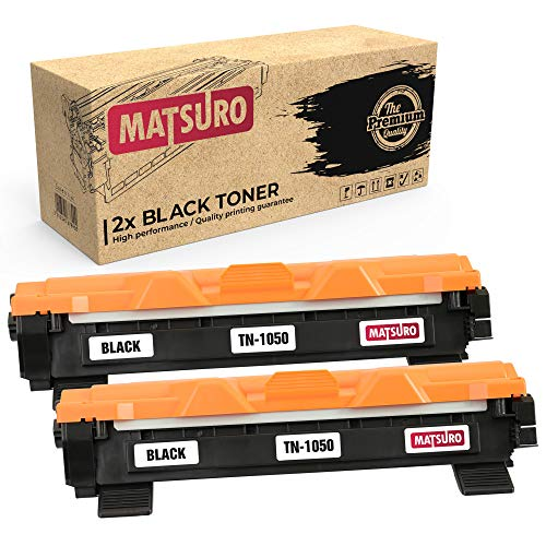 Matsuro Original | Compatibele tonercartridge vervanging voor BROTHER TN-1050 2 Zwart