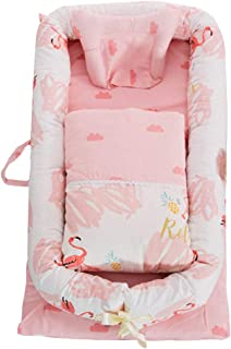 Abreeze Baby Lounger,Infant Lounger,Newborn Lounger: Breathable,Hypoallergenic-Perfect for Co-Sleeping,Cotton Portable Travel Infant Bed,Crib,Bassinet,or Flamingo Baby Nest