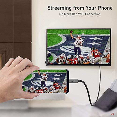uni USB C zu HDMI-Kabel 3m (4K@60Hz), USB Typ C zu HDMI 2.0 Kabel [Thunderbolt 3 kompatibel] für MacBook Pro 2019/2018/2017, MacBook Air, iPad Pro, Surface Book 2, Samsung S10 usw.