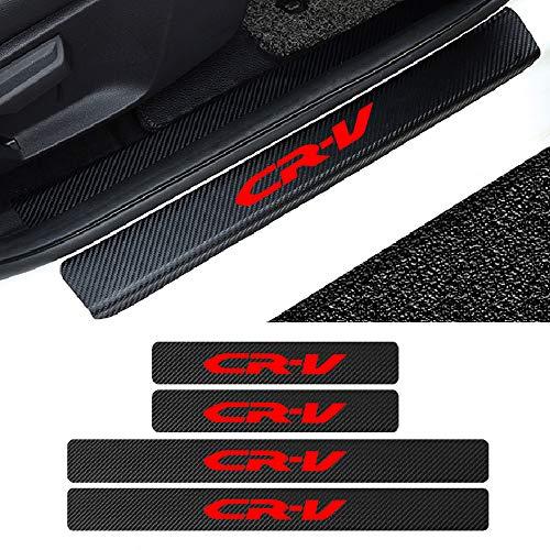 L&U 4 stücke autotürschwellenverschleißplattenschutz kohlefaser Aufkleber für Honda zubehör,CRV