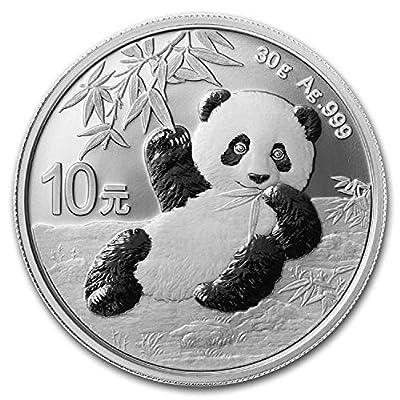 2020 CN Chinese 30 gram Silver Panda In Capsule 999 10 YUAN Brilliant Uncirculated New