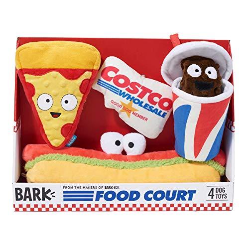 Ems BARK Costco Food Court Dog Toy Bundle, 4-Count