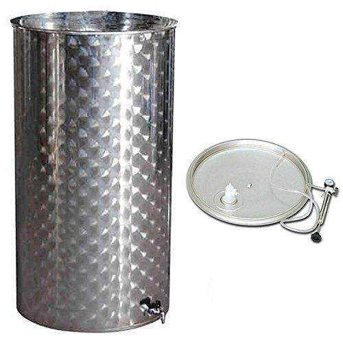 Mistermoby Serbatoio Inox 100 Litri Vino Galleggiante A Camera D'Aria Contenitore Cisterna