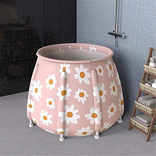 Bañera portátil 6 Capas Espesar portátil Plegable bañera de Agua Sala de Agua Interior al Aire Libre Adulto Balneario de baño para baño Caliente baño de Hielo (Color : A8, Size : Free Size)