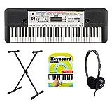 Yamaha YPT-260 Keyboard Set (61 Tasten, 400 hochwertige Klangfarben, 130 automatische Begleit-Styles, 112 Songs, Batteriebetrieb möglich...