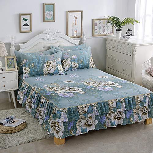 ALRZ Sábanas de cama para el hogar, juego de sábanas suaves con bolsillo profundo, sábana bajera ajustable solo para ti princesa