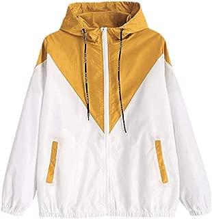 RkBaoye Women Hoode Zip Pocket Long Sleeve Outdoor Sunscreen Tops Outwear