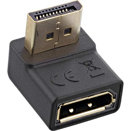 InLine® DisplayPort Adapter, DisplayPort Stecker/Buchse, nach unten gewinkelt, 17199U