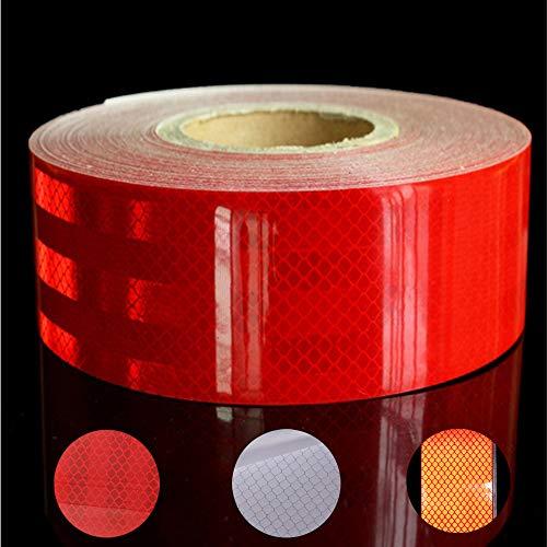 Reflektierendes klebeband, 10 M * 5 cm Wasserdicht Reflektierende Aufkleber, Selbstklebende Sicherheitsband für Auto Lkw Motorrad Boot Fahrradanhänger Camper Balance Kinderwagen Helme auf Nacht(rot)