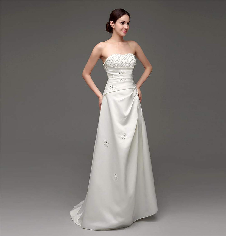 Women's Wedding Lace VNeck Shoulder Puff Princess Wedding Dress Adult Dress Evening Gown,US8