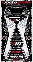 MOTOGRAFIX(モトグラフィックス) ボディパッド S1000RR 09-11 REAR ホワイト/ブラック MT-RB004U
