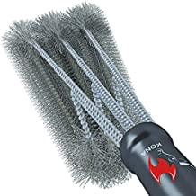 Kona 360 Clean Grill Brush, 18 inch Best BBQ Grill Brush - Stainless Steel 3-in-1 Grill Cleaner for Effortless Cleaning