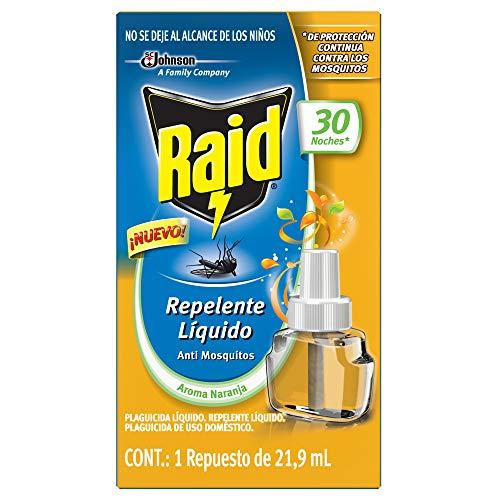 Raid Repelente Líquido Repuesto 30 Noches Con Aroma Naranja