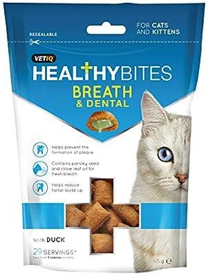 M&C Breath & Dental Healthy Bites Treats for Cats & Kittens (50g)