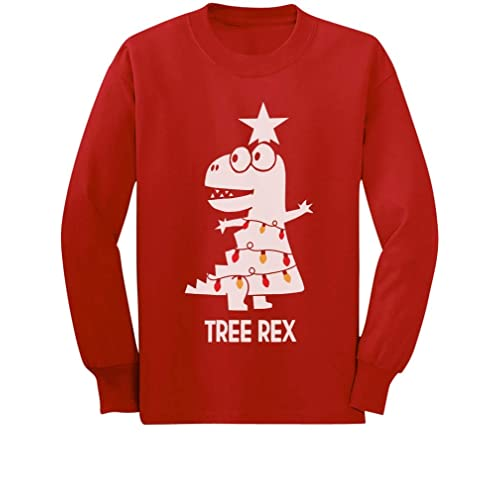 c43ebfb164 Tree Rex Cute Funny T-Rex Dinosaur Christmas Toddler Kids Long Sleeve T-