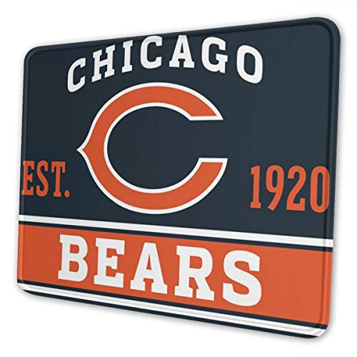 ZJLVMF Chicago Team Bear Mouse Pad Non Slip Planet Mouse Pad for Desktop Pc and Laptop