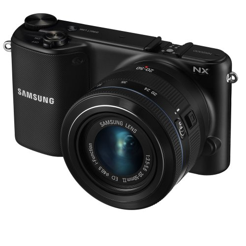 Samsung NX2000 20.3MP CMOS Smart WiFi Mirrorless Digital Camera with 20-50mm Lens and 3.7' Touch...