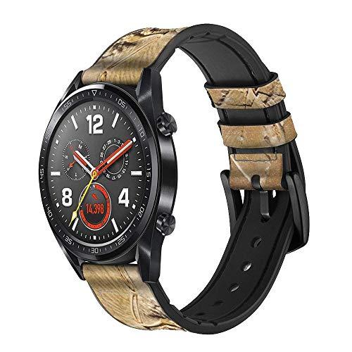 Innovedesire Dinosaur Fossil Correa de Reloj Inteligente de Cuero y Silicona para Wristwatch Smartwatch Smart Watch Tamaño (22mm)