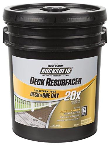 Rust-Oleum 319383 RockSolid 20X Deck Resurfacer, 1 Gallon, Gray