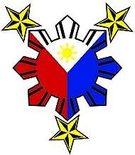 JS Artworks Philippine Flag Nautical Star Vinyl Sticker Decal