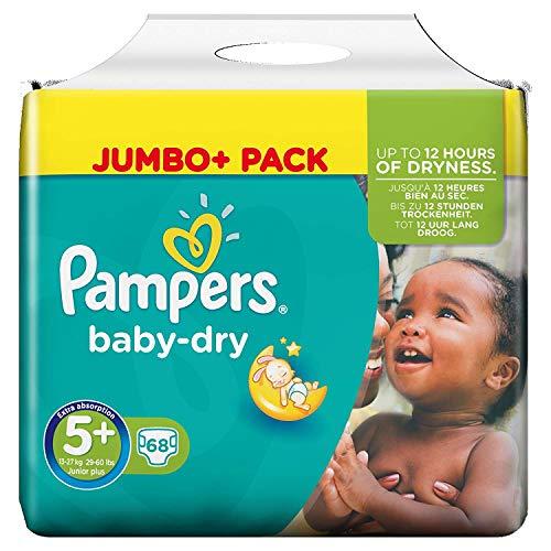 Pampers Baby-Dry Windeln Größe 5 Plus (Junior Plus) 12-17 kg, 1er Pack (1 x 68 Stück)