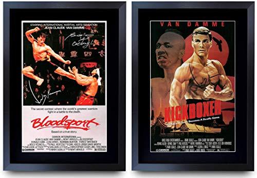 HWC Trading A3 FR BloodSport & Kickboxer Collectie Jean-Claude Van Damme Gedrukte Posters Ondertekend Autograph Foto…