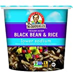 Dr. McDougall's Right Foods Vegan Lower Sodium Black Bean and Rice Soup, 1.6 Ounce Cups (Pack of 6) Non-GMO, No Added Oil, Whole Grain, Paper Cups From Certified Sustainably-Managed Forests