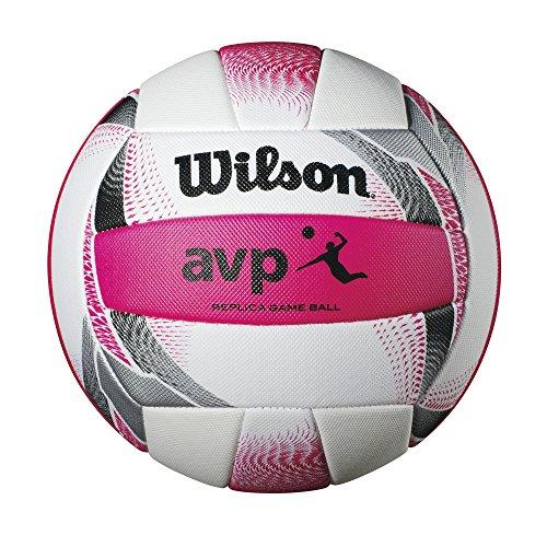 Wilson AVP II Replica Beach Volleyball, Pink/White