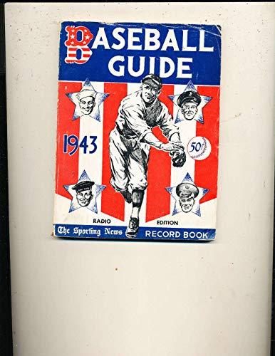1943 Sporting News Baseball Guide corner crease bxbg