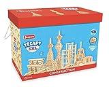 Jeujura - 8324- Jeux de Construction-Tecap Baril de Planchettes 3XL - 500 Pieces