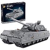 LesDiy Technik Panzer Klemmbausteine Bauset, WW2 Panzer VIII Maus Modellbausatz Kompatibel mit Lego Technik - 2127 Teile