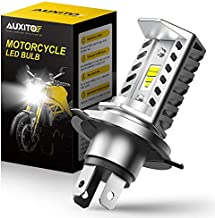 AUXITO H4 9003 Motorcycle LED Headlight Bulb High Low Beam Light Conversion Kit with CSP Y19 LED Chips Specially Designed for Motorbike Headlamp 6500K White