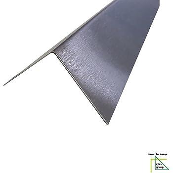 Blechwinkel Kantenschutz,kreativbauen 200cm Eckschiene L-Profil Schenkel 4x2cm CNS Winkel 2000mm 40x20 mm K240 geschliffen V2A 0,8mm stark