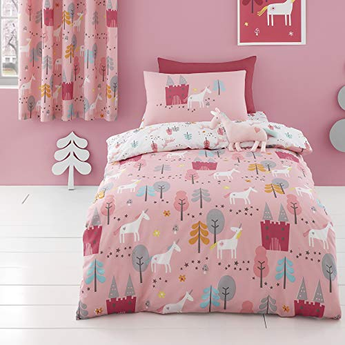 Cosatto - Unicornland - Duvet Cover Set - Junior Bed Size in Pink/Grey