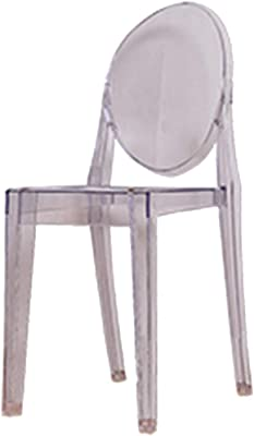 Amazon.com: XFENG Clear Inspired Ghost Dining Arm Chair ...