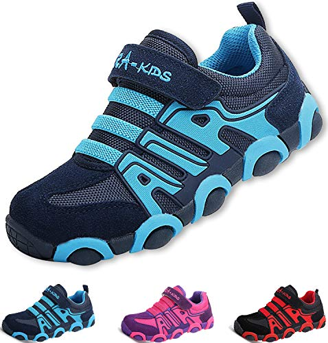 SITAILE Kinderschuhe Outdoor Sport Sneaker Wander Schuhe Turnschuhe für Kinder Jungen Mädchen,blau,EU 28