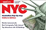 NYC Pop-Up Map by VanDam - Patented, laminated pocket city street map of Manhattan w/ all attractions, museums, sights, hotels, Broadway theaters & ... 2019 Edition Map – Folded Map, July 15, 2019
