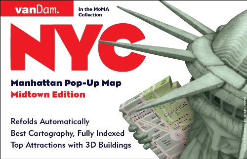 Pop-Up NYC Map by VanDam - City Street Map of New York City, New York - Laminated folding pocket size city travel and subway map, 2016 Edition (Pop-Up Map) by Stephan Van Dam (2016-05-01)