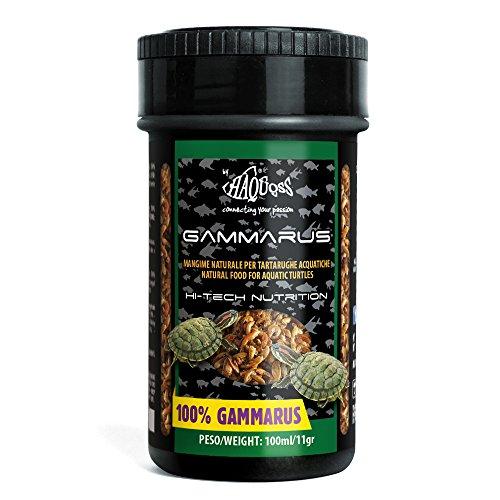 Haquoss Gammarus alimento Natural de gamberetti secas para Tortugas acquatiche, 100ml/11gr