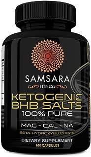 Samsara Herbs BHB Salt Capsules - Exogenous Ketone Supplement (120 Capsules - 5,231mg Serving) - Sodium, Calcium, Magnesium Betahydroxybutyrate