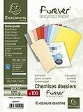 Exacompta 420000E - Lote de 100 Subcarpetas Forever® 180, Colores Surtidos