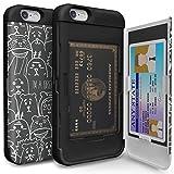 TORU CX PRO iPhone6Sケース パターン カード 収納背面 2枚 IC Suica カード入れ カバ― ミラー付き (アイフォン 6S / アイフォン 6 用) - Animal