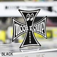 ムーンアイズ(MOONEYES) ステッカー MOON Equip アイアンクロス サイズXS ブラック_SC-MQD020XS-MON